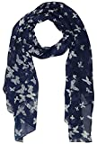 #2: Icw Women's Scarf (Blue and White, 22