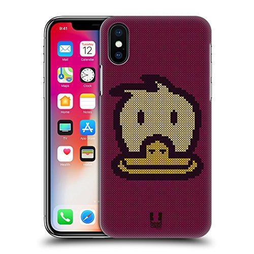 Head Case Designs Panda Croci Cucite Cover Retro Rigida per Apple iPhone X Papera