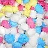 Baumwolle Bälle, Lommer 100pcs Hamster Haustier warme natürliche Baumwolle Bälle - bunt
