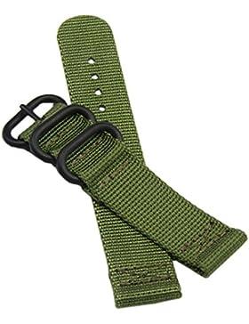 20mm Armee grün deluxe premium NATO Stil robust exotischer weichen Nylonsportarmbanduhr-Band Armband Männer