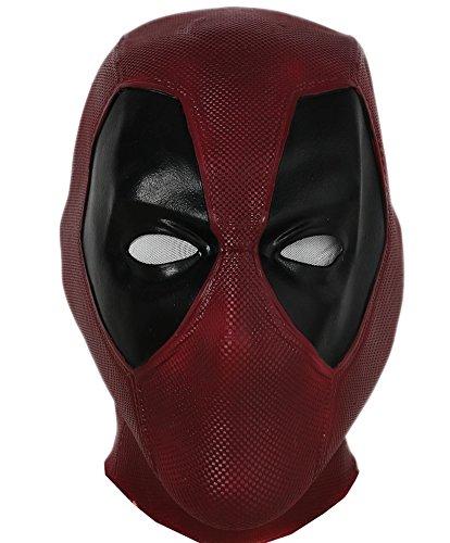 Coole Maske Helm im Freien Cosplay Kostüm Halloween Erwachsene Dunkelrot Latex Gesichtsmaske New Version