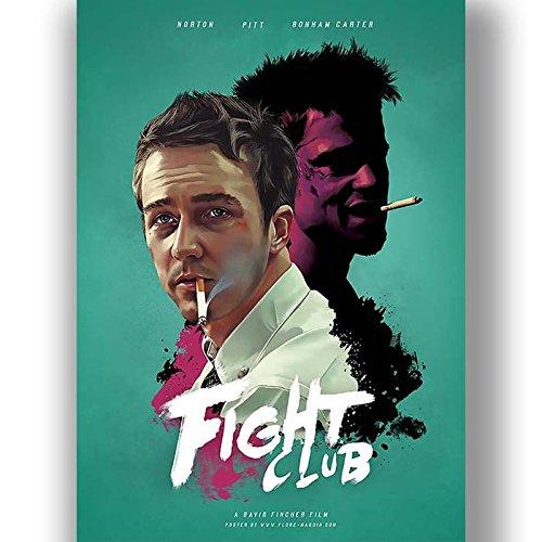 Fight Club Film Film Poster Vintage Retro-Stil Leinwand Wand Kunstdruck Bild groß klein