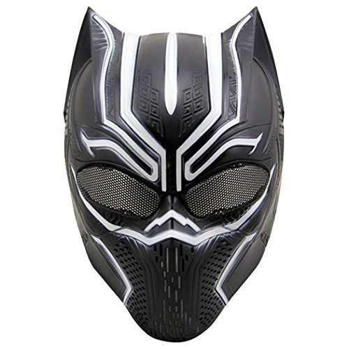 Outgeek Airsoft Maske, taktische Full Face Masken Halloween Kostüm Maske Cosplay Animal Shaped Maske für Erwachsene (Schwarz and (Kostüm Ball Soft)