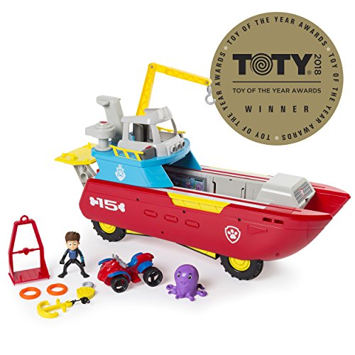 Nickelodeon La Pata de Patrulla Patrulla del mar - vehículo patrullero transformación de mar con Luces y Sonidos, de Edades Entre 3 y hasta