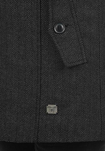 Indicode Brandan Herren Winter Mantel Wollmantel Lange Winterjacke mit Stehkragen, Größe:S, Farbe:Black (999) - 5
