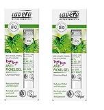 Lavera Anti-Pickel Gel Bio-Minze, Zink und Salizylsäure - bei unreiner Haut, 2 x 15ml