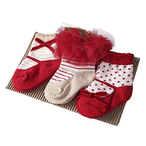 Sanlutoz Baby Kinder Mädchen 3 Paare Prinzessin Tutu Socken Hochzeit Nette Neugeborene Baby Socken (0-12 Monate, SKPK049) (Besten Paare Halloween Kostüme)