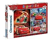 Clementoni - 25197.1 - Puzzle - Cars -  3 en 1 - 144 Pièces
