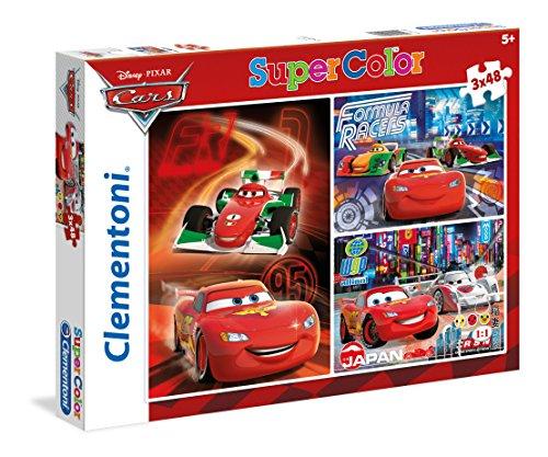 Clementoni 25197 - cars puzzle, 3x48 pezzi
