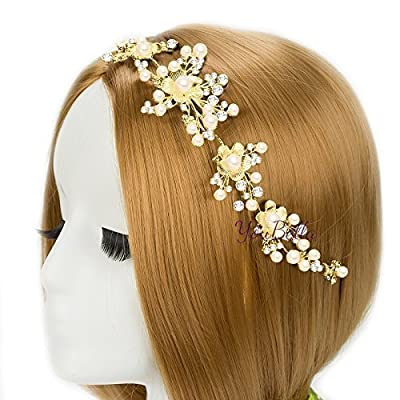YouBella Golden Plated Hair Jewellery for Women (Golden)(YBHAIR_41253)