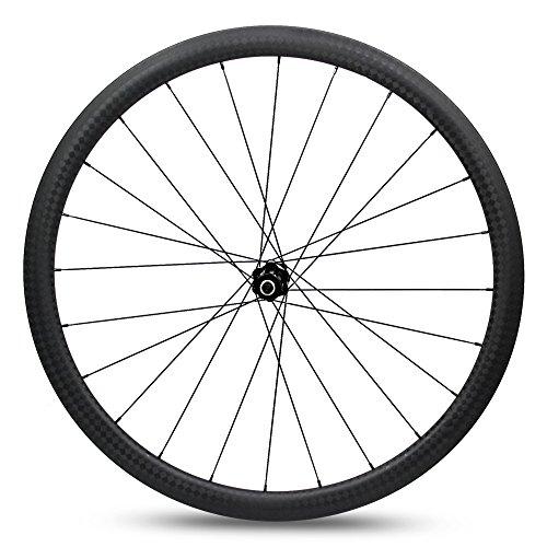 Yuanan 38mm 700C Road Bike Carbon Laufradsatz 25mm Breite Aero Felge mit dt Swiss 350Hub Sapim CX Ray Speichen für Fahrrad Rad Stahlrohr Tubeless Drahtreifen -
