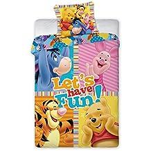 Disney Winnie The Pooh–Juego de funda nórdica 140x 200cm Algodón