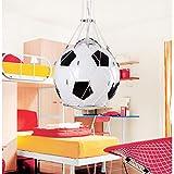E27 Vintage Glas Globel Shade Pendelleuchte Fußball mit Net Childern Zimmer Hängeleuchte