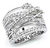 Anillo de Plata ley 925 sortija para mujeres joyería de moda de lujo argollas boda matrimonio compromiso aniversario fiesta navidad novios diseño moderno Jewelry san valentín Oro Rosa (Plata, 6)