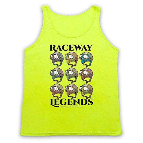 Raceway Legends Born To Ride Tank-Top Weste Neon Gelb