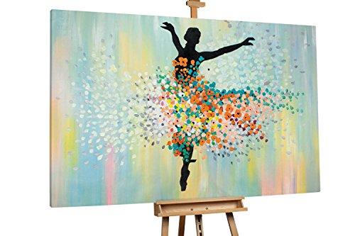 'On Stage' 180x120cm | Abstrakt Bunt Ballerina Tanz Punkte | Modernes Kunst Ölbild