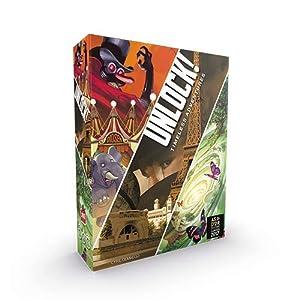 Asmodee Italia - Unlock Timeless Adventures Escape Room de Mesa, edición íntegramente en Italia, Color 8985