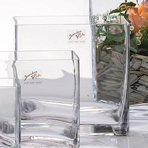Vase eckig 16 x 16 cm Cube