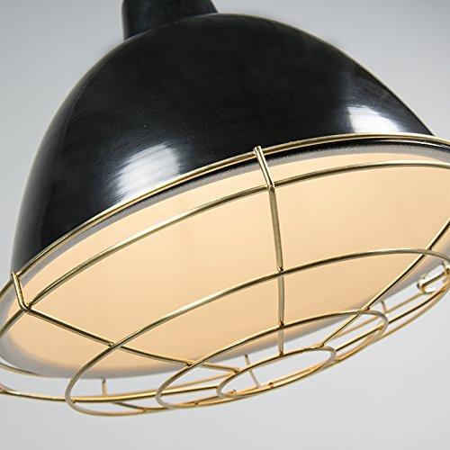 QAZQA Modern 2-flammiger-Set Pendelleuchte / Pendellampe / Hängelampe / Lampe / Leuchte Strijp O schwarz / Innenbeleuchtung / Wohnzimmer / Schlafzimmer / Küche Metall Rund LED geeignet E27 Max. 2 x 40 - 5