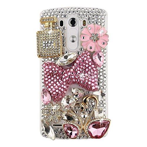 spritech (TM) CLEAR Handy Fall, bling 3D Handgefertigt Kristall Design Hart Smartphone Cover für LG G5 design 13 (One M8-fall Aqua-htc)