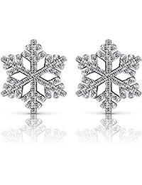 B.Catcher Christmas Earrings Cubic Zirconia 925 Silver Stud Eearring