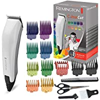 Remington HC5035 Colour Cut Tagliacapelli 11 pettinini, forbici, pettine e spazzola per il collo