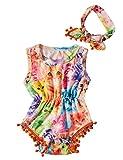 Funnycokid Babyspielanzug Kleidung Rainbow Katze Einteiler Outfits Set