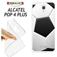 K170 FUNDA CARCASA ALCATEL POP 4 PLUS BLANDA GEL TPU PELOTA FUTBOL DIBUJO BALON