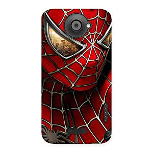 Gorgeous Spide Two Red Back Case Cover for HTC One X
