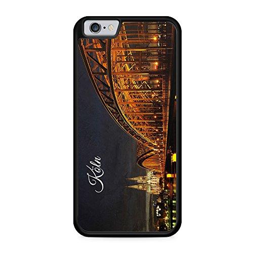 Köln Schriftzug Skyline Foto - Hülle für iPhone 6 & 6s SILIKON Handyhülle Case Cover Schutzhülle Hardcase - Deutschland Fotografie Städte Stadt Reisen Schöne Bedruckte Besondere Hüllen