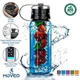 Water Bottle ALL-IN-ONE - Fruit Infuser - Blender Bottle - Water Cup