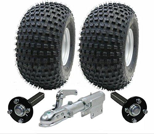 ruote ATV kit rimorchio + hub - stub + intoppo girevole, 310kg, i pneumatici sono 22x11.00-8 4ply P323 Wanda knobbly Pneumat