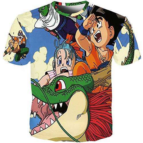 Dragonzzz Unisex Kinder Jungen M?dchen Klassische Anime Dragon Ball Z 3DT-Shirt T-Shirt Cartoon Armour TQilongzhu Sammlung der Serie @XL -