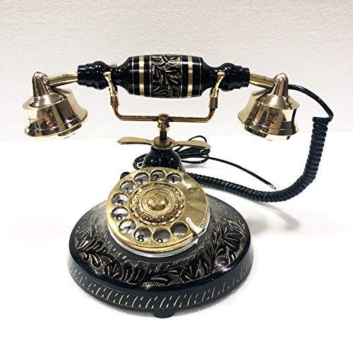 Antique Schönes Vintage-Handy, massives Messing, mit Drehscheibe Handy Messing