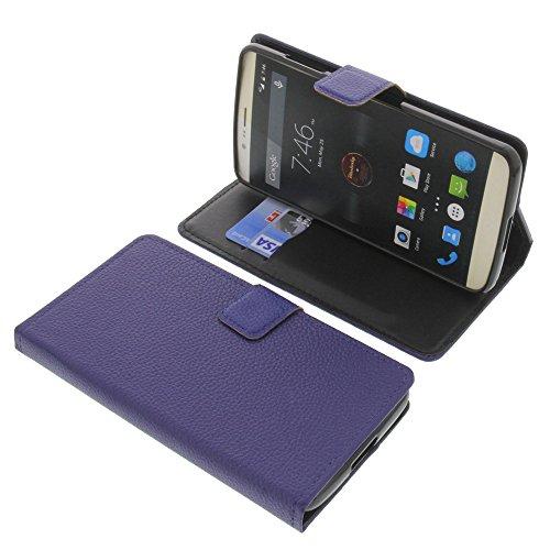 foto-kontor Tasche für Elephone P8000 Book Style blau Schutz Hülle Buch