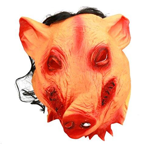 Masque De Cochon Halloween Vénitien Mascarade Ball Rawdah Masque De Latex De Cochon De Fête d'Halloween d'Anniversaire Masques Latex Pig Scary Masque Halloween Déguisement Costume Cosplay Moive Saw Cadeau