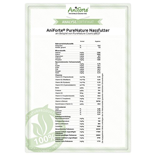 AniForte® PureNature easyBarf Single Protein 400g 100% Fleisch Hundefutter- Naturprodukt für Hunde (Pferd Pur, 6x400g) - 5