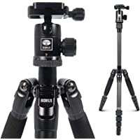 Sirui Compact Traveler 5C Tripod 54.3 inches Lightweight Carbon Fiber Travel Tripod Portable Camera Tripod with 360…