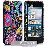 Yousave Accessories Coque en silicone gel pour Huawei Ascend Y300 Motif Méduse Multicolore