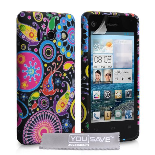 huawei-ascend-y300-case-floral-jellyfish-silicone-gel-cover