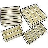 4pcs Nonwovens biancheria intima ordinata pratico Box calzini Shorts cassetto legami deposito ...
