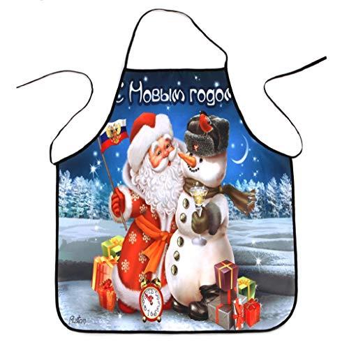 Weihnachtsdekoration Wasserdichte Schürze Weihnachten Dinner Party Schürze Festliche 3D Druck Kochschürze Latzschürze Kochen Küche Schürze BBQ Weihnachten Geschenk Neuheit für Kinder Frauen Männer