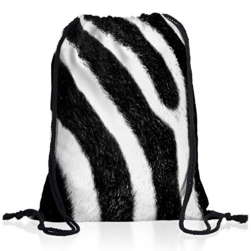 style3 Zebrafellmuster Rucksack Tasche Turnbeutel Sport Jute Beutel Zebra -