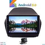 """Hi-azul Android 8.0 Autoradio In-dash 9"""" Car Stereo RAM 4G ROM 32G Car Radio 8-Core Car Multimedia Navigazione GPS con Schermo 2.5D per Hyundai IX35 (2010-2014) (con Telecamera Posteriore)"""