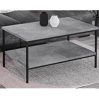 Endo Couchtisch Aspen Industrial Loft Tisch Metall 100x60cm ...