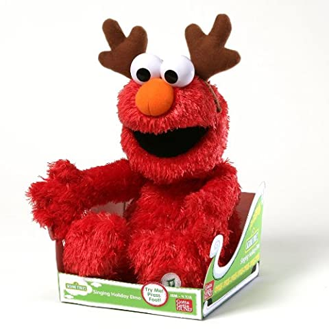 GUND Seasame Street Singing Holiday Elmo Soft Toy