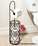 #4: Onlineshoppee Wrought Iron Hierro Kitchen Toilet Tissue Roll Dispenser Napkin Holder
