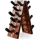 Deuba Weinregal aus Holz für 36 Flaschen Rüttelbrett Design Höhe 87cm, klappbar - Flaschenregal Flaschenständer Weinständer Weinflaschenhalter Rüttelpult