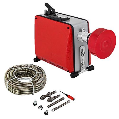 Mophorn Rohrreinigungsmaschine 390W 220V Rohrreiniger 32mm bis 100mm drain clean Rohrreinigungsgerät für Sewer Badewanne (Rohrreinigungsgerät)