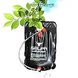 Solar Campingdusche, 12Shage 10 Liter Tragbare Solardusche Gartendusche Outdoor Warmwasser Shower Reisedusche mit Duschkopf, Schlauch